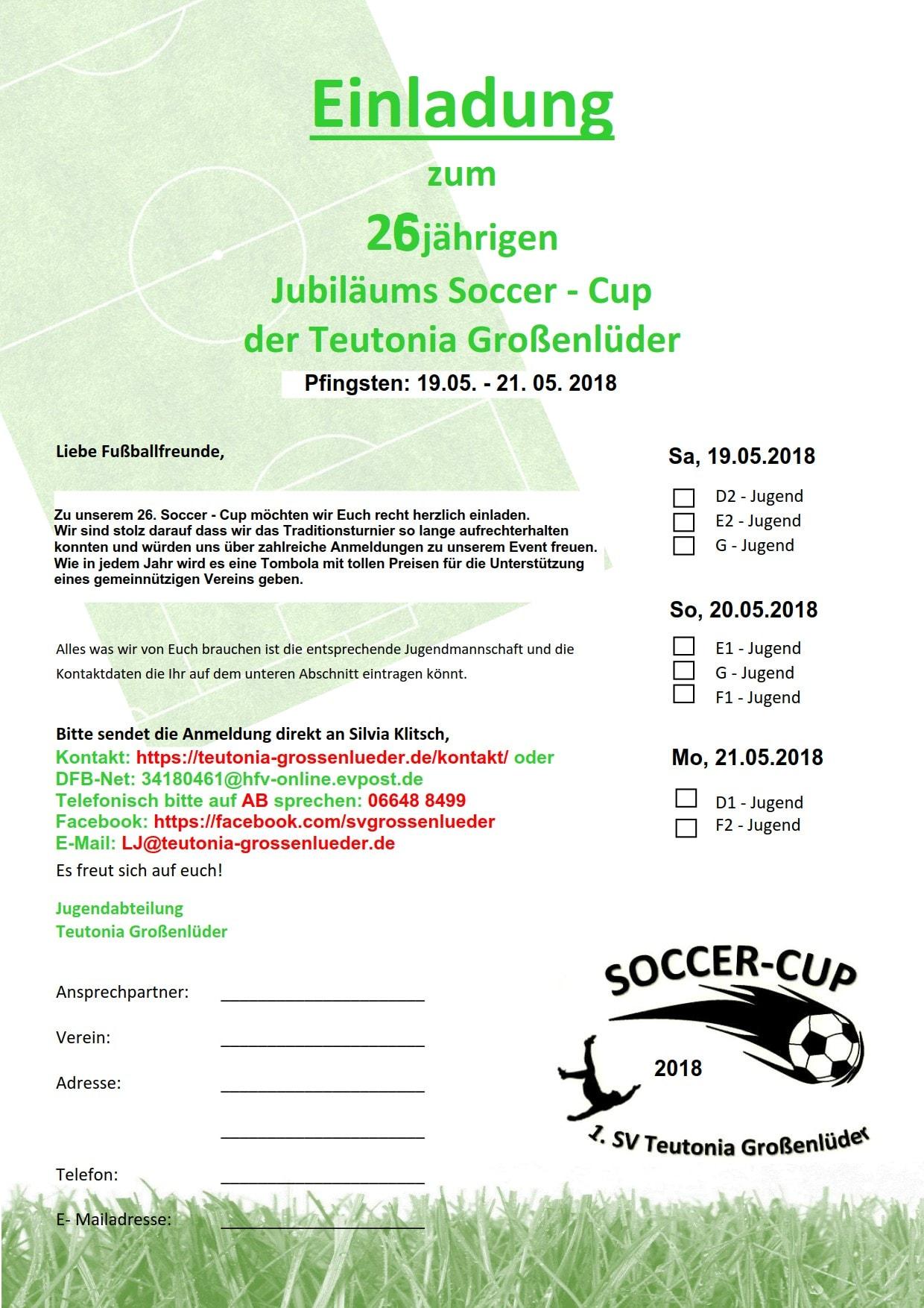 Flyer Soccercup 2018