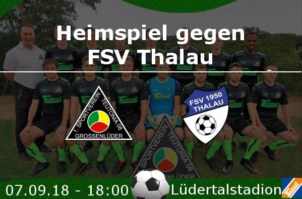 Heimspiel gegen FSV Thalau
