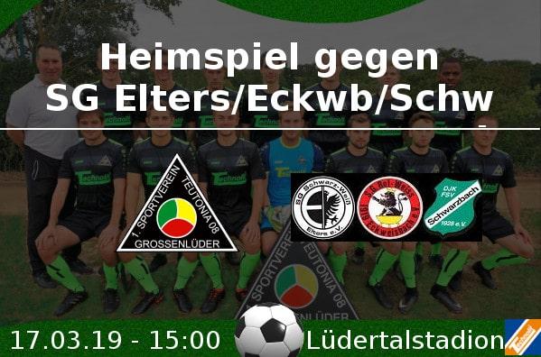 Heimspiel gegen SG Elters/Eckwb/Schwb
