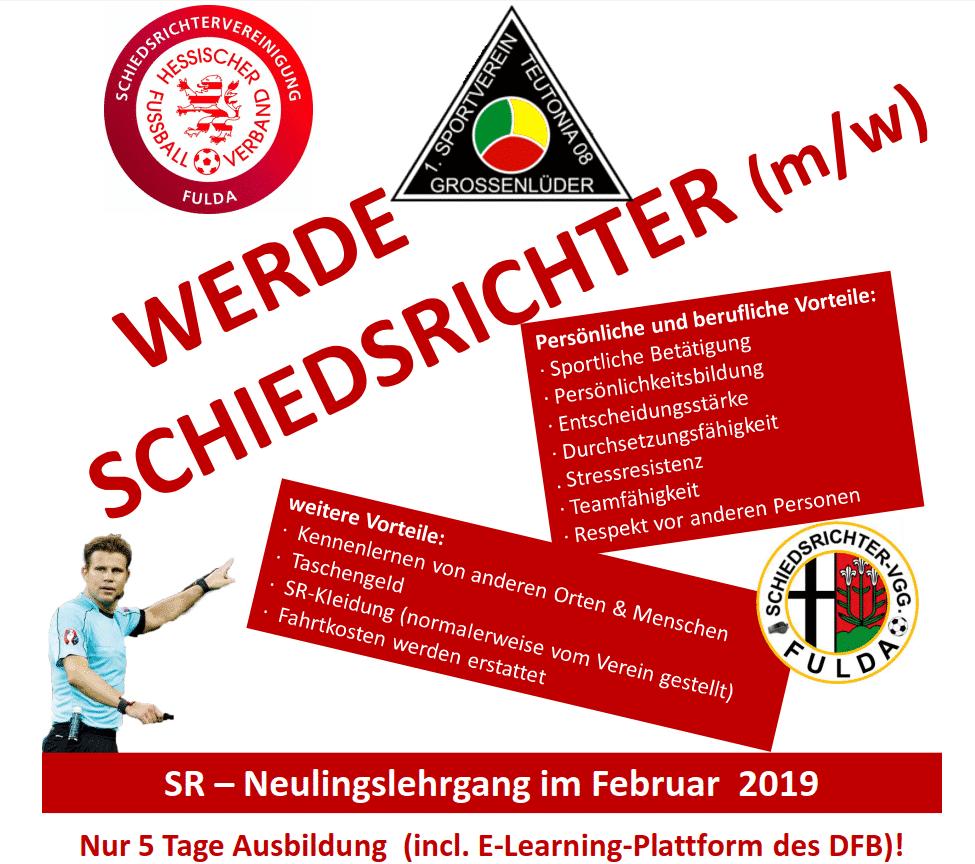 Flyer Schiedsrichterlehrgang 2019