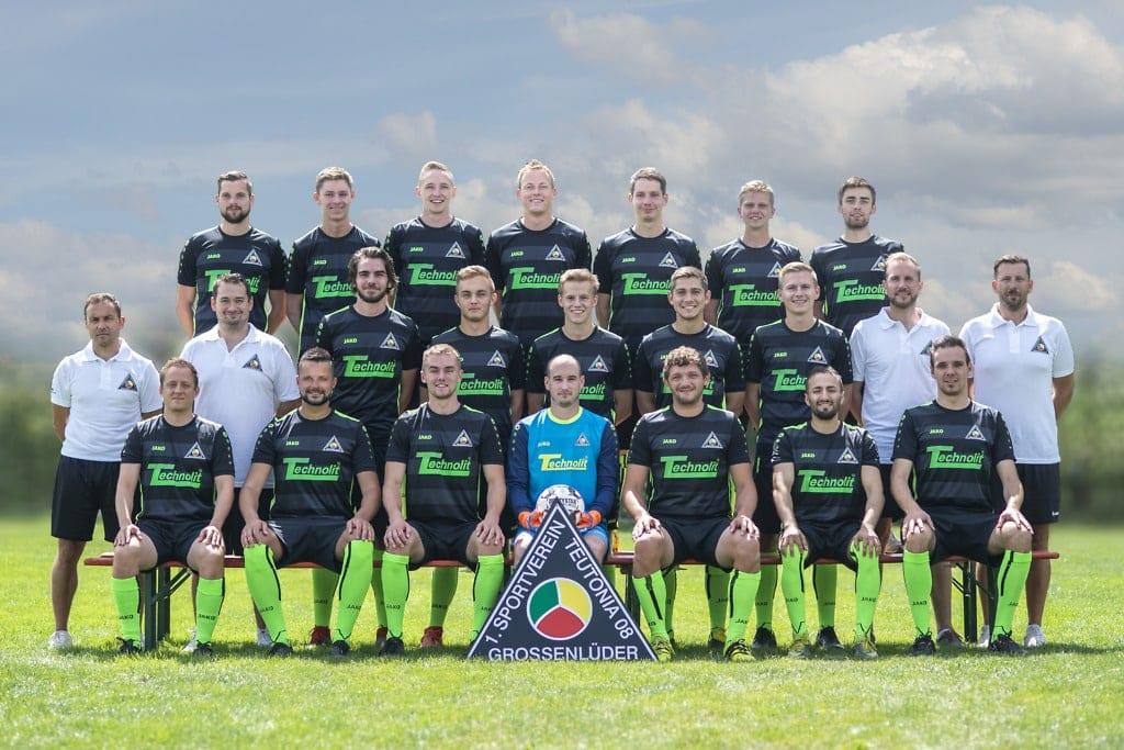 Gruppenliga Team 2019/2020 - SV Teutonia Großenlüder (Foto: Jonas Wenzel)